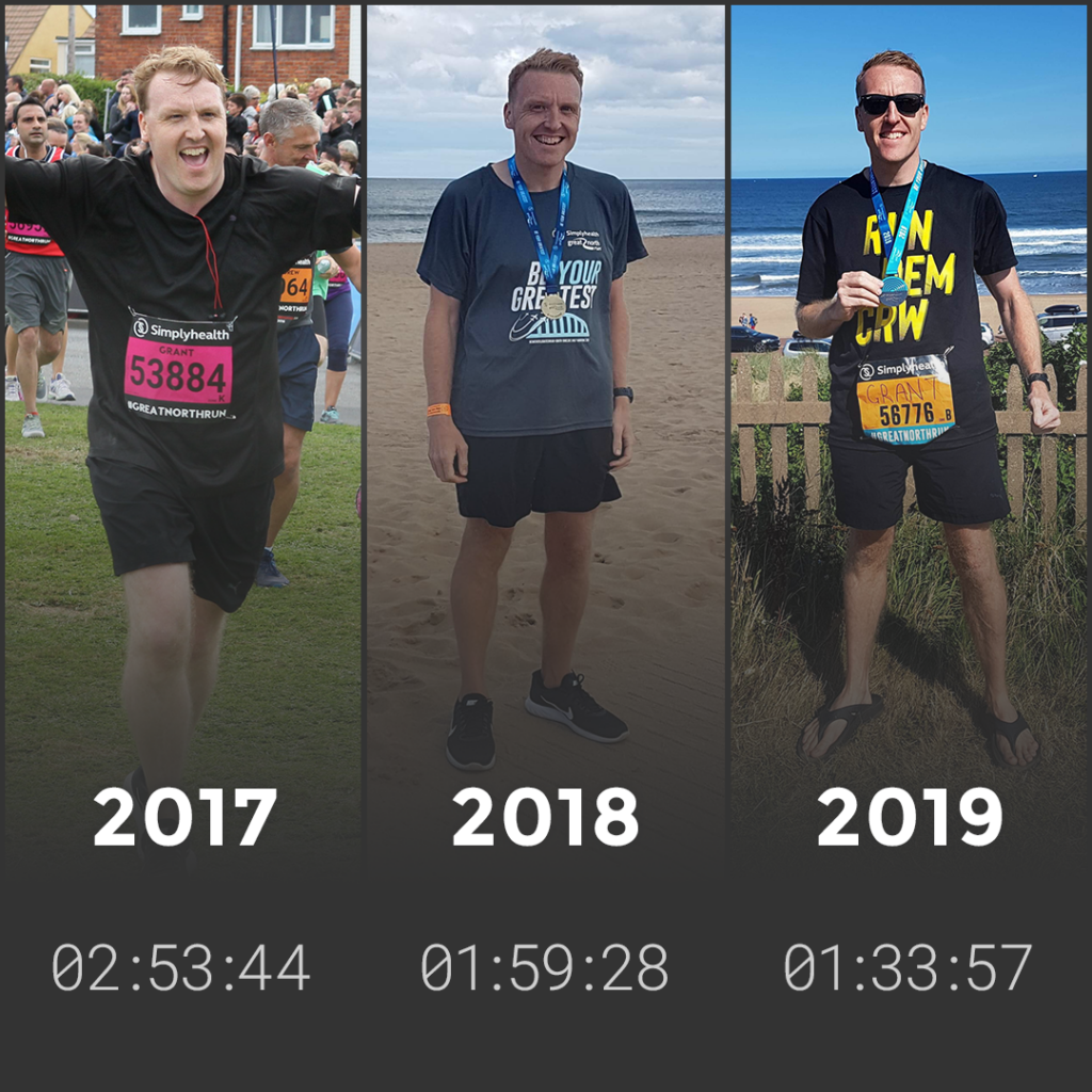 Great North Run progress
